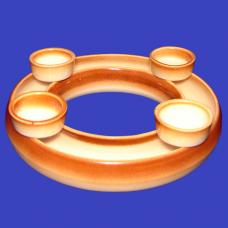 Adventní věnec keramický